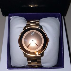 Movado bold rose gold woman's watch